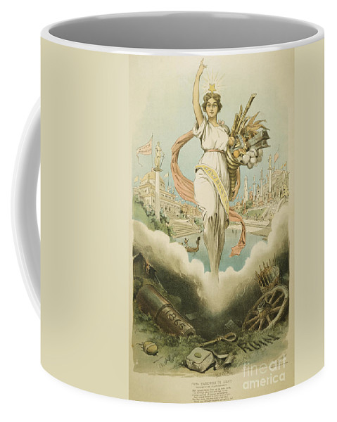 1895 Coffee Mug featuring the painting Atlanta Exposition, 1895 by Granger