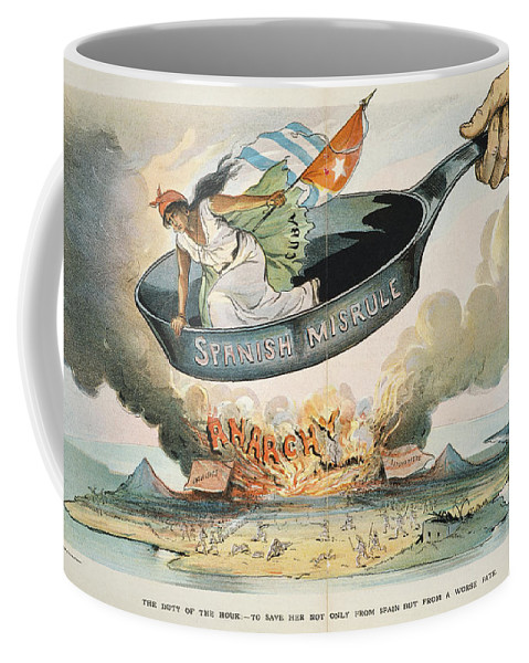 1898 Coffee Mug featuring the painting Spanish-american War, 1898 by Granger