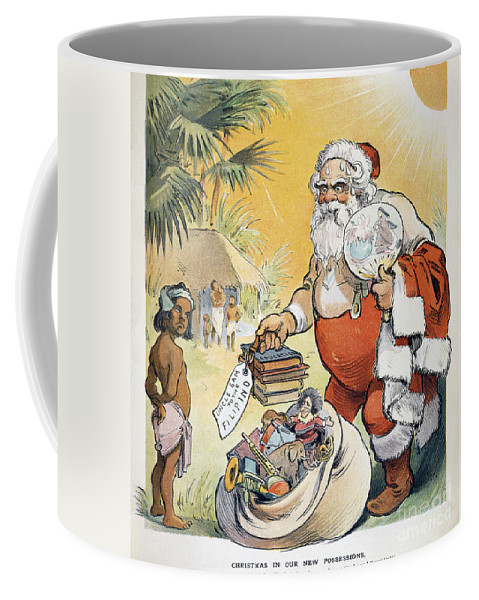 1902 Coffee Mug featuring the painting Philippine Cartoon, 1902 by Granger