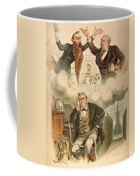 1893 Coffee Mug featuring the painting Cartoon: Panic Of 1893 by Granger