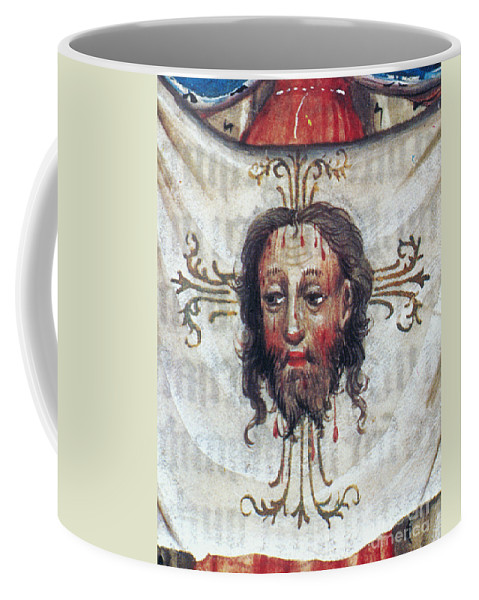 15th Century Coffee Mug featuring the painting Veronica's Veil by Granger