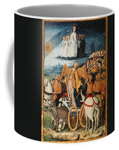 14th Century Coffee Mug featuring the painting Illumination: Petrarch by Granger