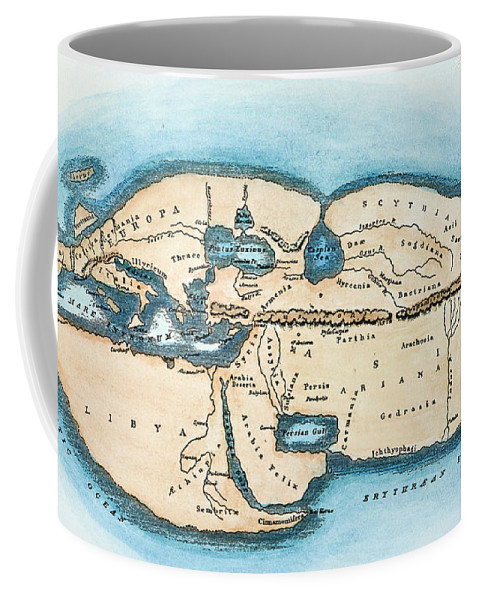 1st Century Coffee Mug featuring the painting Strabo World Map, C20 A.d by Granger