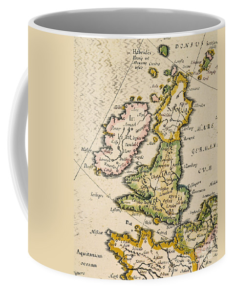 1623 Coffee Mug featuring the painting Map Of Great Britain, 1623 by Granger