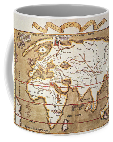 1535 Coffee Mug featuring the painting Waldseemuller: World Map by Granger