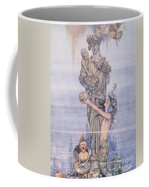 1913 Coffee Mug featuring the painting Andersen: Little Mermaid by Granger