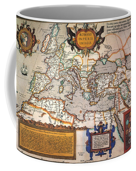 1595 Coffee Mug featuring the painting Map Of The Roman Empire by Granger