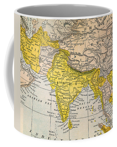 19th Century Coffee Mug featuring the painting Asia Map, 19th Century by Granger