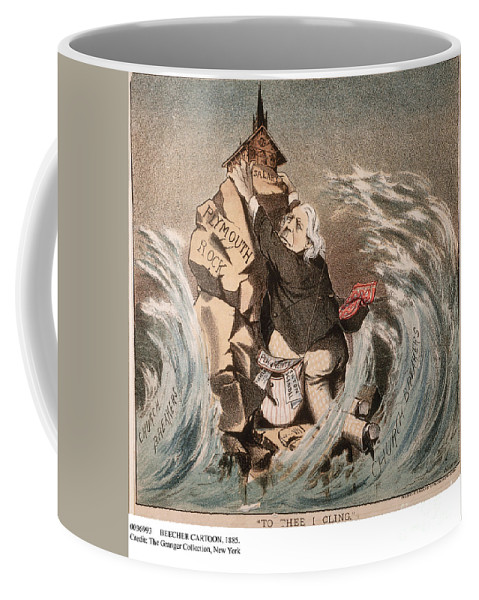 1885 Coffee Mug featuring the painting Beecher Cartoon, 1885 by Granger