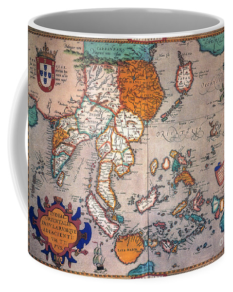 1595 Coffee Mug featuring the painting Pacific Ocean/asia, 1595 by Granger