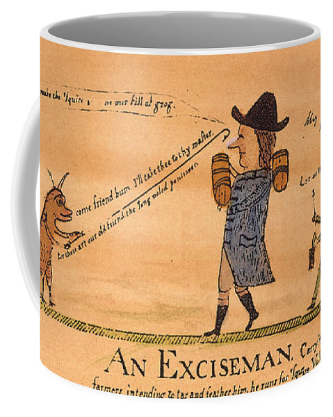 1794 Coffee Mug featuring the painting Cartoon: Whiskey Tax, 1794 by Granger