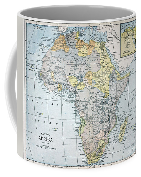 19th Century Coffee Mug featuring the painting Map: Africa, 19th Century by Granger
