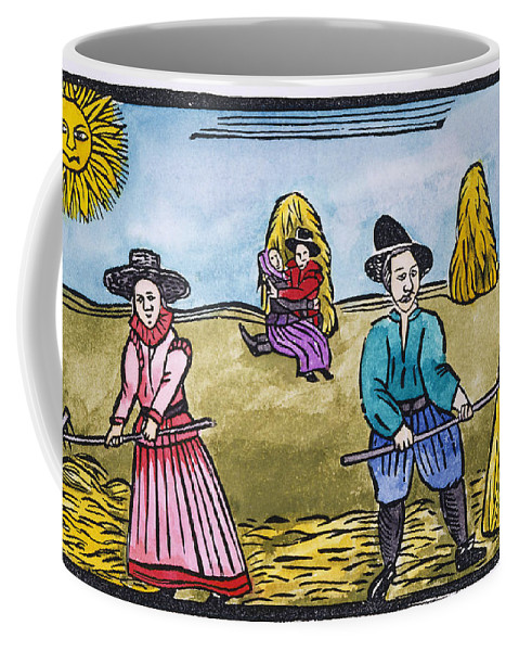 Aod Coffee Mug featuring the painting Love Among Haystacks by Granger