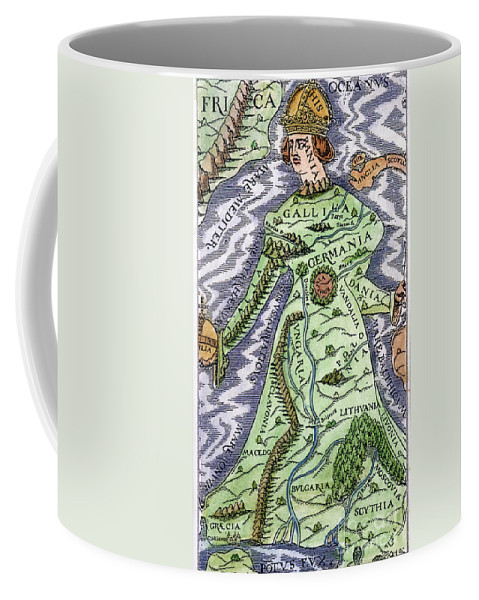 1588 Coffee Mug featuring the painting Europe As A Queen, 1588 by Granger