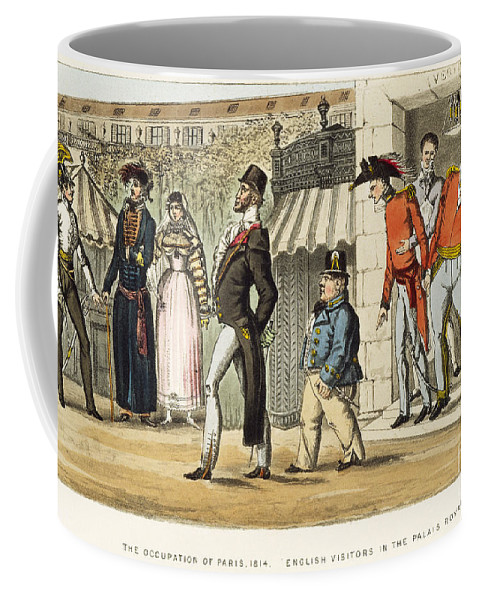 1814 Coffee Mug featuring the painting Paris Occupation, 1814 by Granger