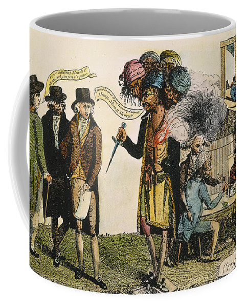1798 Coffee Mug featuring the painting Cartoon: French War, 1798 by Granger