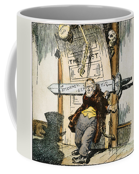 1924 Coffee Mug featuring the painting Skeletons Of Malfeasance by Granger