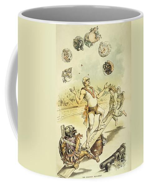 1887 Coffee Mug featuring the painting Otto Von Bismarck by Granger