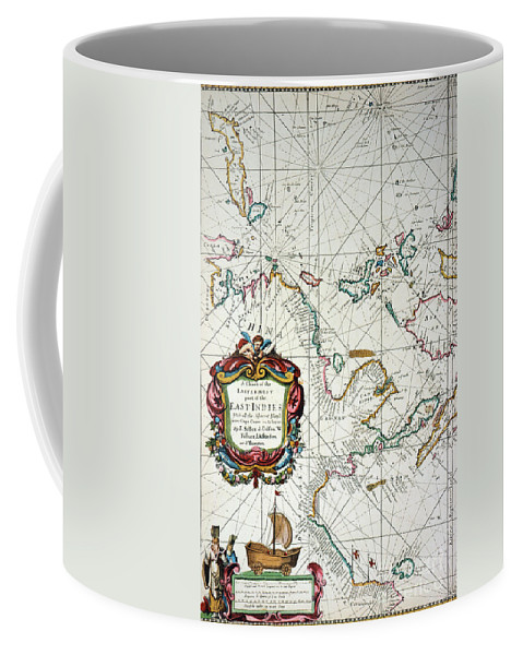 1670 Coffee Mug featuring the painting East Indies Map, 1670 by Granger