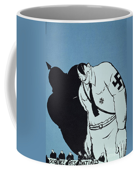 1935 Coffee Mug featuring the painting Adolf Hitler Cartoon, 1935 by Granger