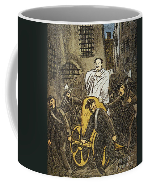 1925 Coffee Mug featuring the painting Benito Mussolini Cartoon by Granger