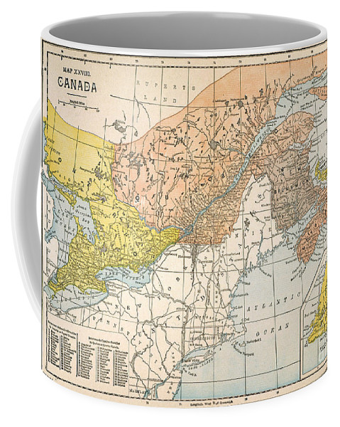 19th Century Coffee Mug featuring the painting Map: Eastern Canada by Granger