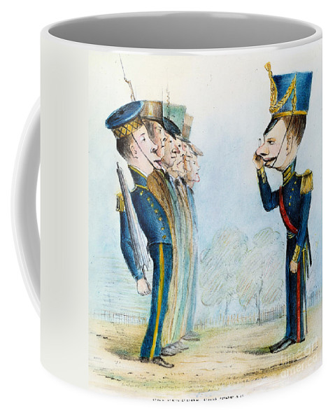 1846 Coffee Mug featuring the painting Cartoon: Mexican War, 1846 by Granger