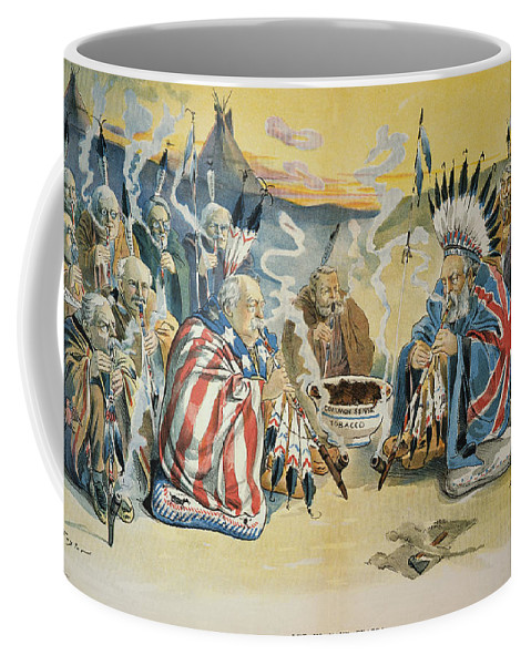 1896 Coffee Mug featuring the painting G. Cleveland Cartoon, 1896 by Granger