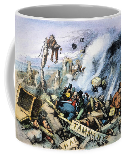 1871 Coffee Mug featuring the painting Nast: Tweed Ring Downfall by Granger