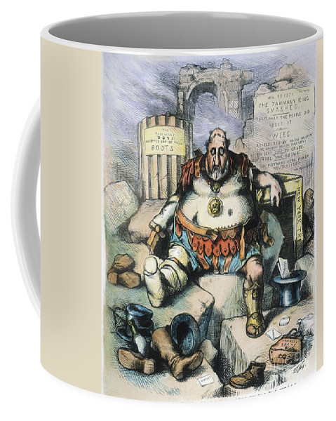 1871 Coffee Mug featuring the painting Nast: Tweed's Downfall by Granger