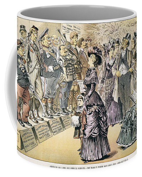 1895 Coffee Mug featuring the painting Marriage For Titles, 1895 by Granger