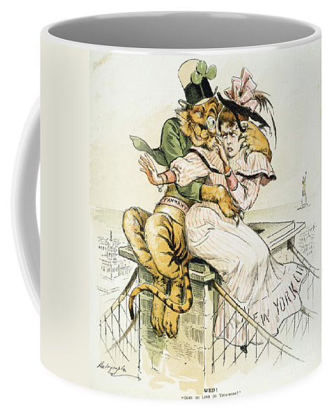 1893 Coffee Mug featuring the painting Political Cartoon by Granger