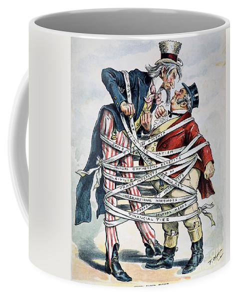 1896 Coffee Mug featuring the painting Venezuela Boundary, 1896 by Granger