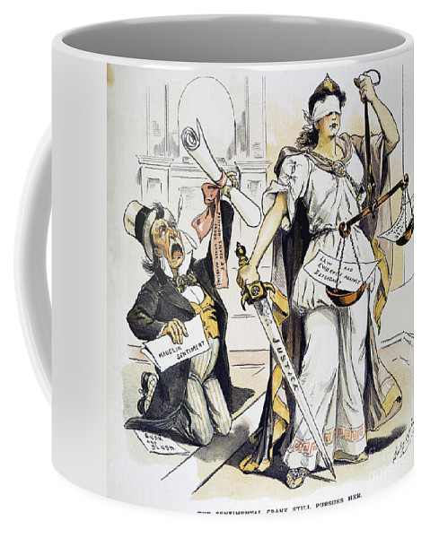 1893 Coffee Mug featuring the painting Justice Cartoon by Granger