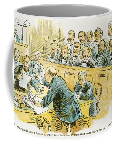 1896 Coffee Mug featuring the painting Litigation Cartoon by Granger