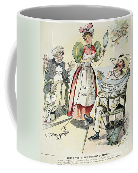 1895 Coffee Mug featuring the painting New South Cartoon, 1895 by Granger