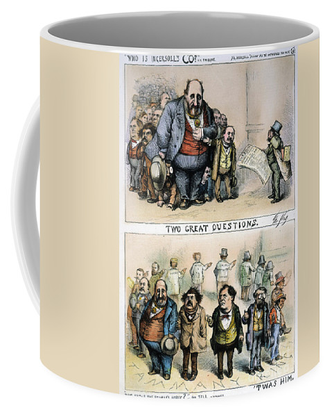1871 Coffee Mug featuring the painting Nast: Tweed Corruption by Granger