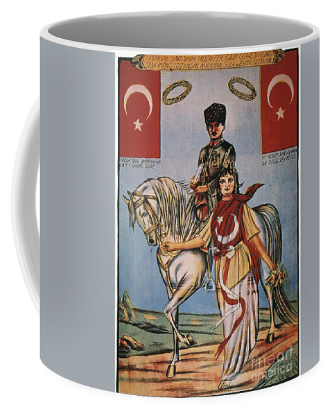 1920s Coffee Mug featuring the painting Republic Of Turkey: Poster by Granger
