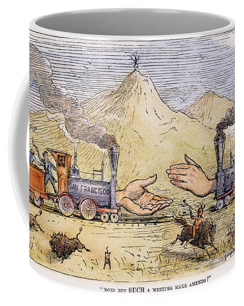 1869 Coffee Mug featuring the painting Promontory Point, 1869 by Granger