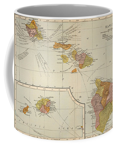 1905 Coffee Mug featuring the painting Map: Hawaii, 1905 by Granger