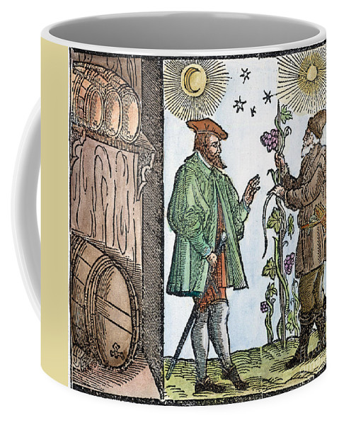 1582 Coffee Mug featuring the painting Wine Merchant, 1582 by Granger