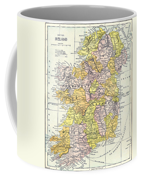 1890 Coffee Mug featuring the painting Map: Ireland, C1890 by Granger