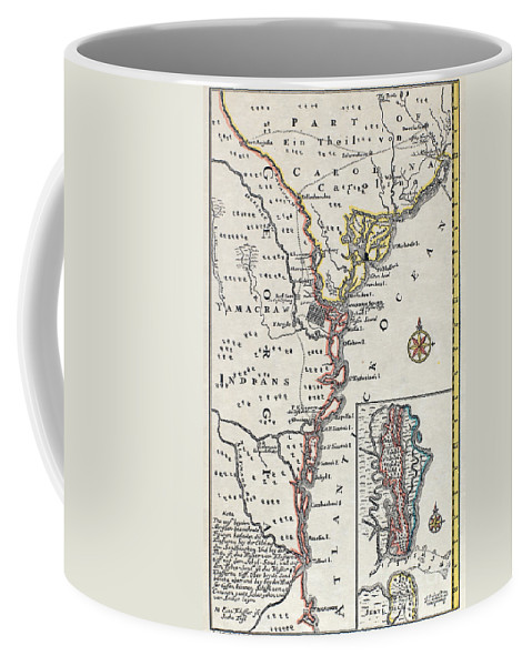 18th Century Coffee Mug featuring the painting Map: North America, C1700 by Granger
