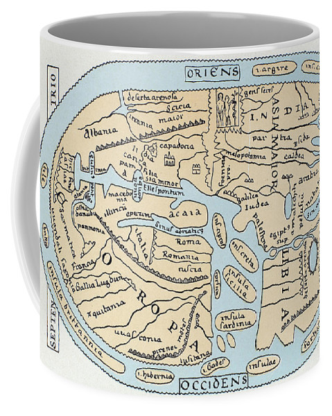 2nd Century Coffee Mug featuring the painting World Map 2nd Century by Granger