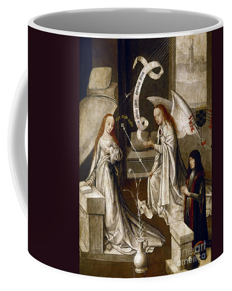 1470 Coffee Mug featuring the painting Spain: Annunciation, C1500 by Granger