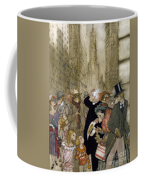 1924 Coffee Mug featuring the painting Rackham: City, 1924 by Granger