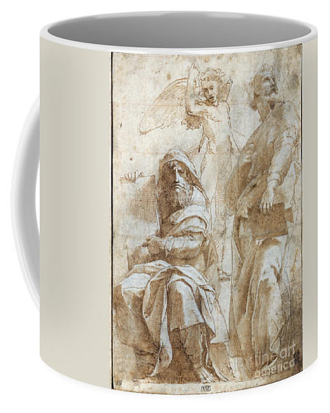 1510 Coffee Mug featuring the painting Raphael: Study, C1510 by Granger