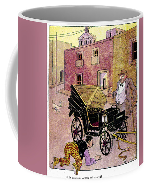 1910s Coffee Mug featuring the painting Mexico: Political Cartoon by Granger