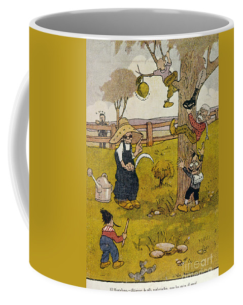 1913 Coffee Mug featuring the painting Mexico: Political Cartoon by Granger