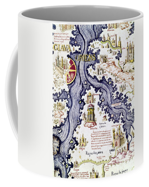 15th Century Coffee Mug featuring the painting Marco Polo (1254-1324) by Granger